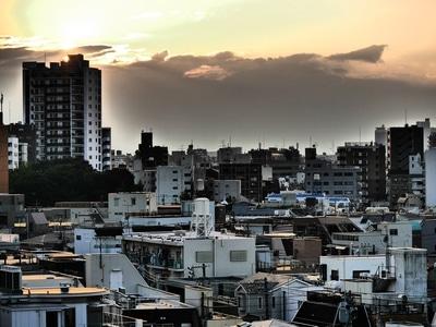 Vue de notre appartement à Ikebukuro - Tokyo.