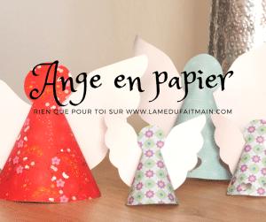 Patron de découpe d'ange en papier