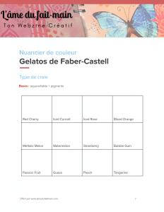 Ton nuancier des craies Gelatos de Faber-Castell