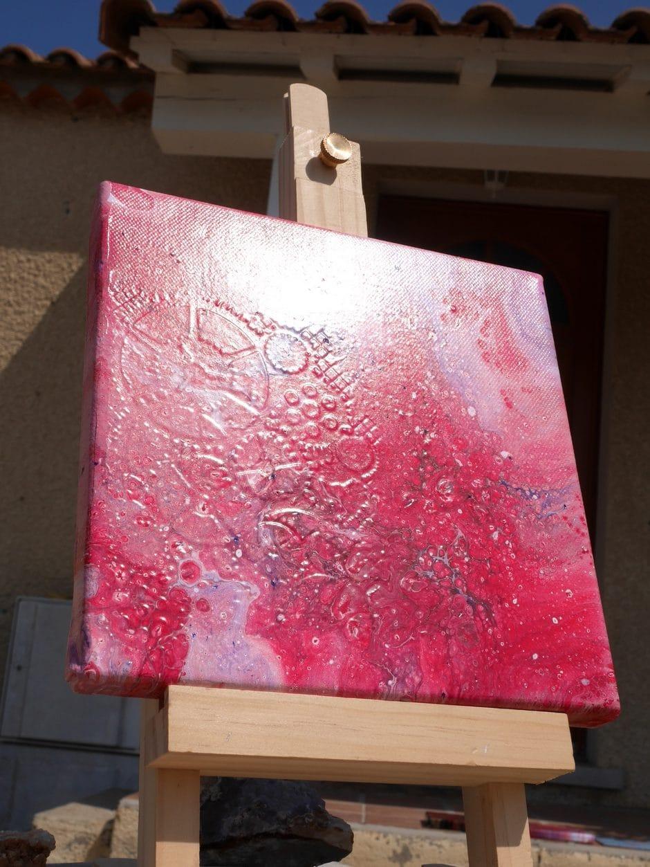Technique de peinture acrylique pouring - Rajoute de la dimension à ta toile !