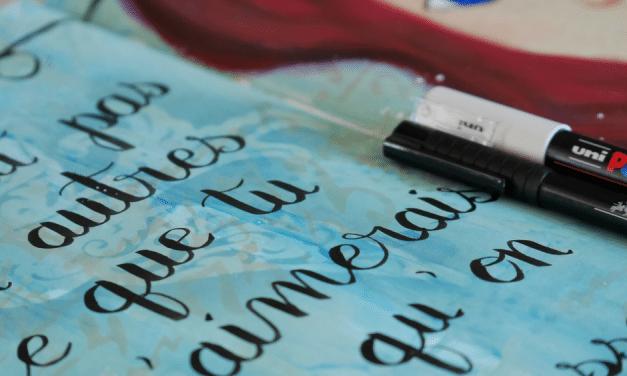 Lettering, apprendre sans acheter de matériel