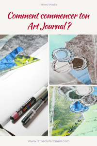 Comment commencer ton art journal ? le support et le prompt.