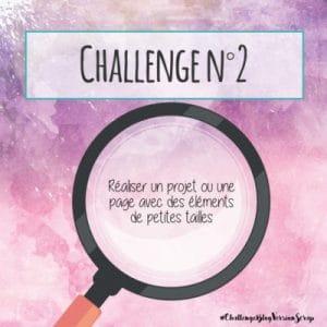 règle du challenge n°2 de version scrap