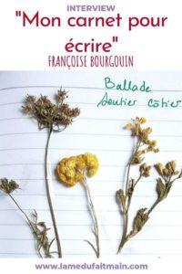 Article interview de Françoise Bourgouin sur l'utilisation de son carnet créatif