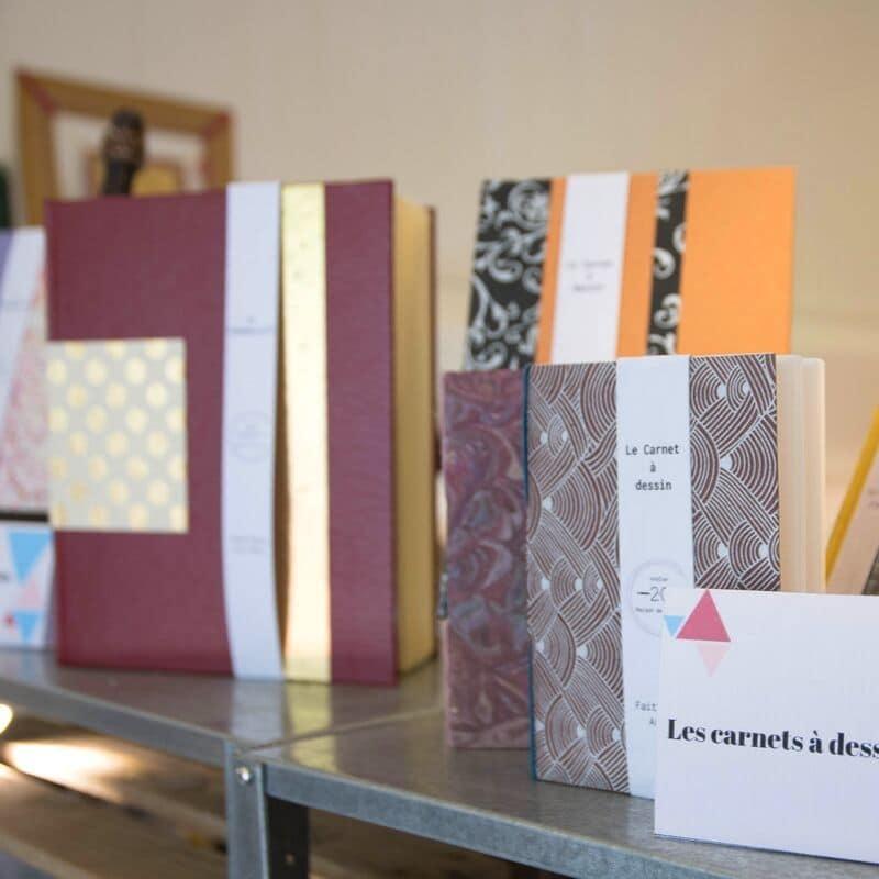 Atelier 2C - l'art de la reliure - interview de Cécile, les carnets à dessin
