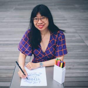 Y-Lan, animatrice d'atelier de lettering