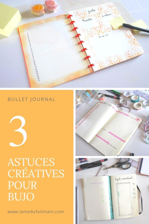 3 astuces créatives, simples et pratiques pour ton bullet journal