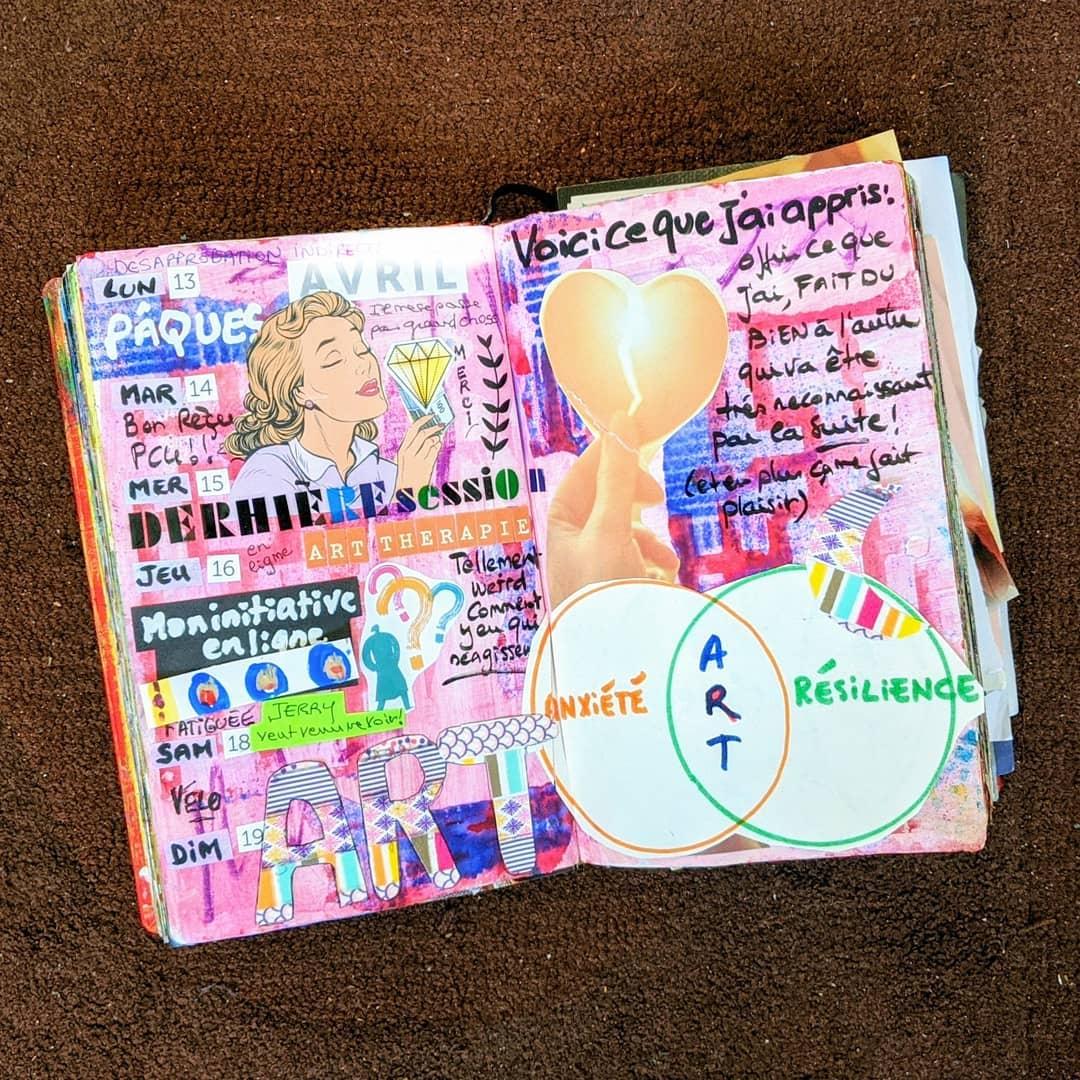 Flow bujo d'Alice entre art journal et bullet journal