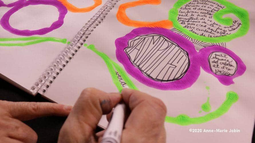 Exercice d'écriture intuitif et créatif de journal créatif