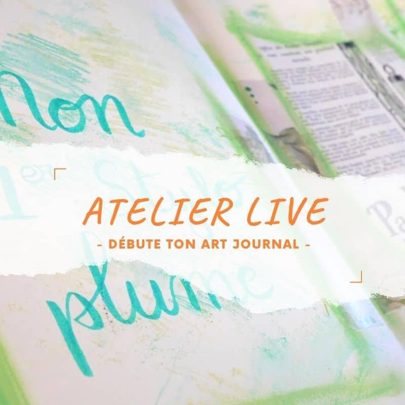 L'atelier en live : débute ton art journal